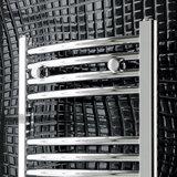 Handdoekradiator multirail curved Staal Chroom 120cm - Eastbrook Wendover