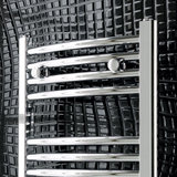 Handdoekradiator multirail curved Staal Chroom 180cm - Eastbrook Wendover