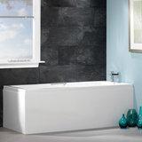 Inbouwbad ligbad kleine badkuip ECO acryl bad wit 170x70cm - Quantum Eastbrook_