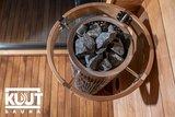Kuut Sauna Premium Quality, Met Houtkachel
