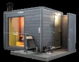 KUUT Sauna Basic M met Houtkachel | 219x227 CM