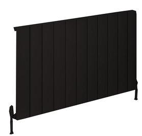 Design radiator horizontaal aluminium mat zwart - Rosano Eastbrook