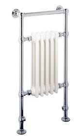 Klassieke kleine handdoekradiator staal chroom 96x50cm 508 watt - Eastbrook Avon