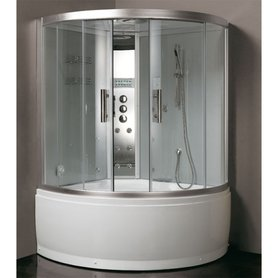 Stoomdouche met whirlpool 135x135cm zilver - DA325HF8 Eago