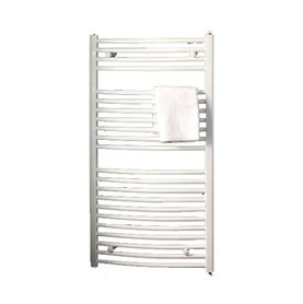 Handdoekradiator multirail curved Staal Wit - Eastbrook Biava