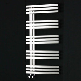 Design Handdoekradiator multirail RVS Gepolijst - Eastbrook Rizano