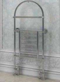 Klassieke kleine handdoekradiator staal chroom 134x50cm 375 watt - Eastbrook Severn