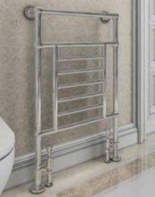 Klassieke kleine handdoekradiator staal chroom 96x60cm 253 watt - Eastbrook Sherbourne