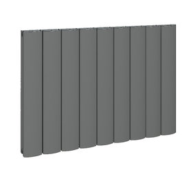Design Radiator horizontaal Aluminium Mat Antraciet - Eastbrook Guardia