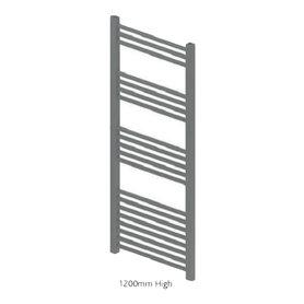 Handdoekradiator multirail straight staal mat antraciet - Eastbrook Wendover
