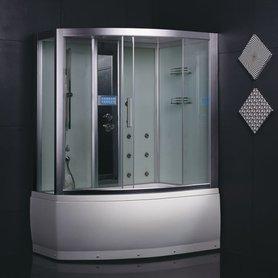 EAGO Stoomdouche DA328HF8 met whirlpool 150 x 100 met instap rechts