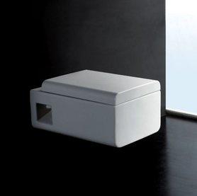 Hangend toilet rechthoekig 53x35cm met softclose toiletbril - WD333P Eago