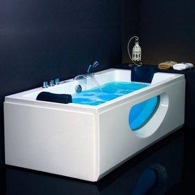 Whirlpool ligbad bubbelbad 180x90cm wit versterkt acryl - AM220E Eago