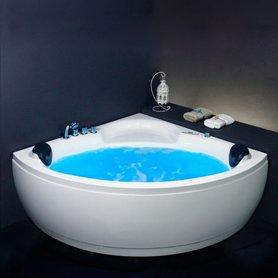 Whirlpool hoekbad bubbelbad 140x140cm wit versterkt acryl - AM221E Eago