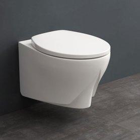 Hangend toilet 52x37cm mineraal gegoten mat wit - TMS-501P StoneArt