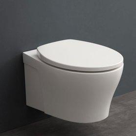 Hangend toilet 53x37cm mineraal gegoten mat wit - TMS-502P StoneArt