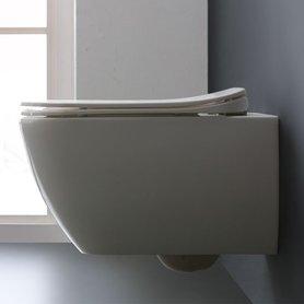 Hangend toilet 52x38cm mineraal gegoten glanzend wit - TMS-506P StoneArt