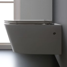 Hangend toilet 52x38cm mineraal gegoten glanzend wit - TMS-507P StoneArt