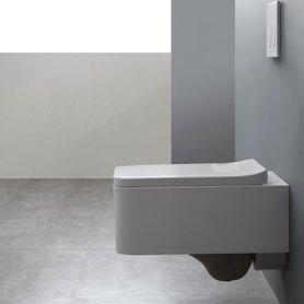Hangend toilet rechthoek 52x36cm mineraal gegoten glanzend wit - TMS-508P StoneArt