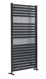 Handdoekradiator multirail straight aluminium mat antraciet - Eastbrook Velor