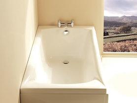 Ligbad badkuip inbouw enkelzijdig wit 140x70cm - Delta Eastbrook
