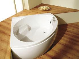 Hoekbad ligbad kleine badkuip wit 130x130cm - Tranquillity Eastbrook