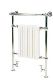 Kleine klassieke handdoekradiator staal 94x60cm - Isbourne Eastbrook