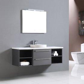 Badkamermeubel met waskom Neapel NA-1400 donkergrijs 140cm