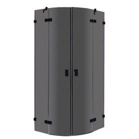 Douchewand inloopdouche 100x100cm zwart - LAR1001-B Eago