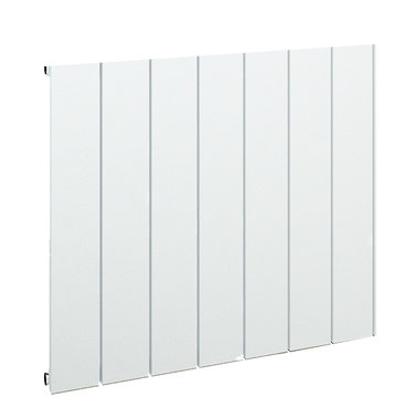 Design radiator horizontaal aluminium mat wit - Rosano Eastbrook