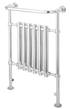Klassieke kleine handdoekradiator staal chroom 93x63cm 329 watt - Eastbrook ampney