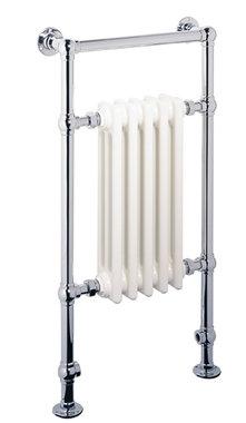 Klassieke kleine handdoekradiator Staal Chroom 960x500mm 508 watt - Eastbrook Avon