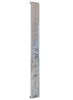 Design Radiator verticaal Aluminium Gepolijst - Eastbrook Berlini