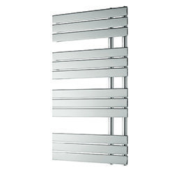 Design Handdoekradiator multirail Staal Chroom 1200x600mm 499 watt - Eastbrook New Leonardo
