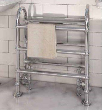 Klassieke handdoekradiator Staal Chroom 778x686mm 290 watt - Eastbrook Painswick