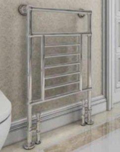 Klassieke kleine handdoekradiator Staal Chroom 960x600mm 253 watt - Eastbrook Sherbourne