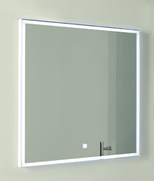 LED badkamerspiegel 70x60cm met aan/uit touch sensor en spiegelverwarming - Esk Eastbrook
