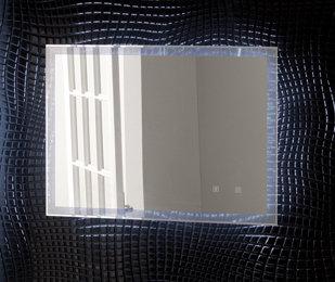 LED badkamerspiegel 60x80cm met blue tooth, aan/uit touch sensor en spiegelverwarming - Leven Eastbrook