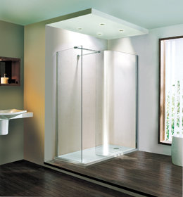 Volente Curved walk-in douchewand 1850 x 970mm