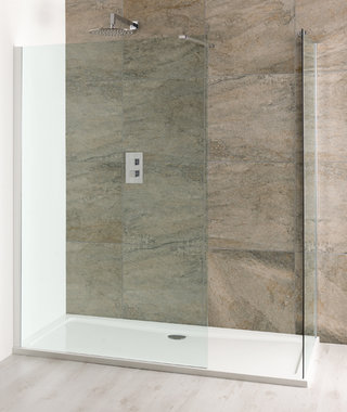 Volente walk-in douchewand van 6mm gehard easy clean glas 300mm