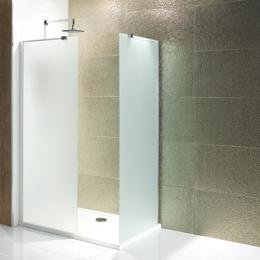 Volente walk-in douchewand van 6mm gehard easy clean melkglas 760mm