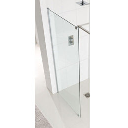 Corniche walk-in voorpaneel van 8mm easy clean glas 850mm