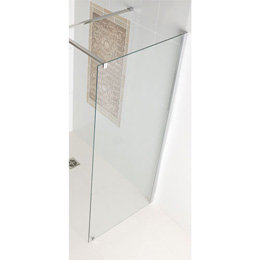 Corniche walk-in eindpaneel van 8mm easy clean glas 700mm