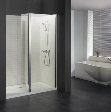 Vantage Flipper walk-in voorpaneel van 6mm easy clean glas 900mm inclusief flipper van 300mm