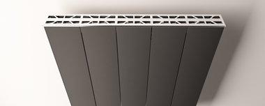 Afdekset radiator Aluminium  403mm - Eastbrook Vesima