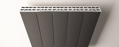 Afdekset radiator Aluminium  1203mm - Eastbrook Vesima