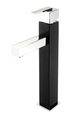 Prado 600 hoge wastafelkraan zwart/chroom