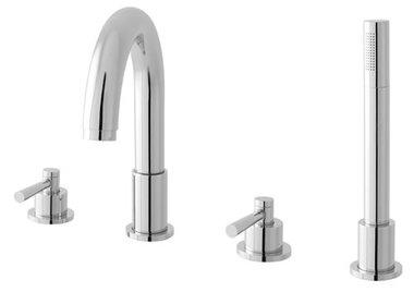 4 gats inbouw bad en douche mixer inclusief handdouche - Prado Lever Eastbrook