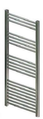Handdoekradiator multirail straight staal chroom - Eastbrook Wendover