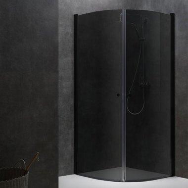 Douchewand inloopdouche 100x100cm zwart -  LCR1000-B Eago